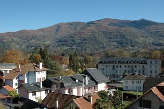 Vue de la ville thermale depuis la terrasse