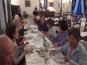 Les touristes Japonais amoureux d'Argeles