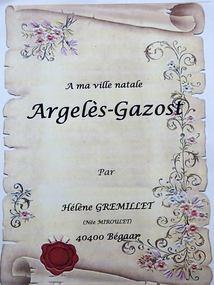 POEME SUR ARGELES-GAZOST