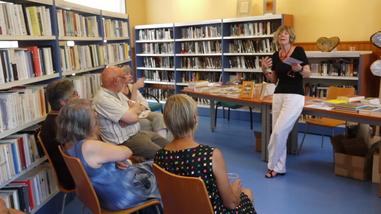 Anne Lasserre-Vergne à la bibliothèque