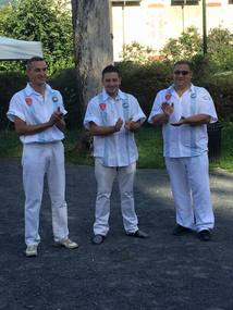 LA TRIPLETTE MESSONIER-SALVINI-LELOUCHE finalistes du Mondial de Pétanque