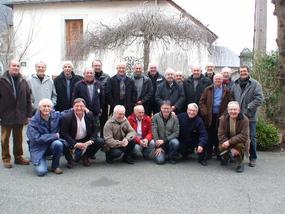 LES JOUEURS  de l'USA , champions de France 1974 se sont réunis pour voir le film du match et déjeuner ensemble