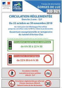 GORGES DE LUZ : CIRCULATION RÉGLEMENTÉE