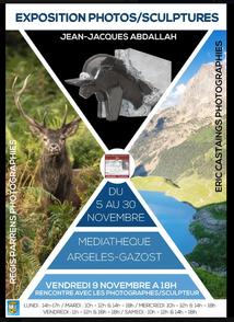 EXPOSITION PHOTOS/ SCULPTURES A LA MEDIATHEQUE D'ARGELES-GAZOST